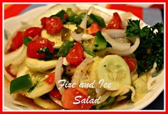 This really does look delicious for these hot days Sweet  Tea and Cornbread: Fire and Ice Salad!