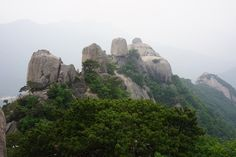 Obong, 5 peaks of the Dobong Mt. in Seoul, Korea.
