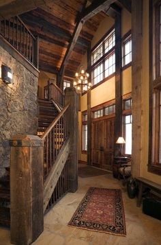 This beautiful staircase from Home on the Range Interiors is perfect for a western style home. #western