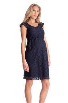 Seraphine Sloane Lace Maternity Dress in Navy.  Please use coupon code NewProducts to receive 15% off these items. To receive the discount, please place your order by midnight Monday, February 8, 2016