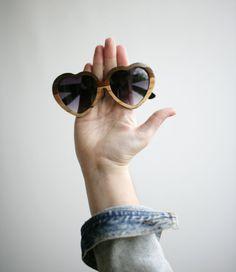 For sunny days: heart-shaped shades.