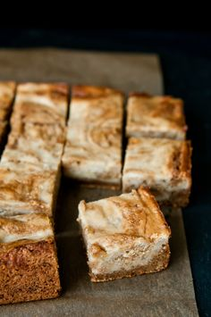 Butterscotch-Banana Blondies via @Ken @hungryrabbitnyc