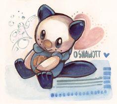 Pokemon - Oshawott by papelmarfil on DeviantArt