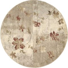 Hand Tufted Mandara Fun Flower Shaped Wool Rug (33 X 33) | Les Fleurs  Underfoot | Pinterest | Wool Rug