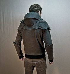 For those who always wanted to be a knight...Armor Hoodie Knight Jacket #style #fashion #LoveIt