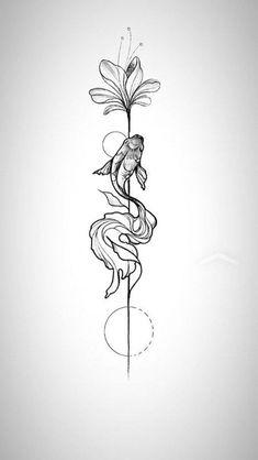 tattoos tattooart design art artwork tattooart ink tattoosforwomen fish … – Tattoo, Tattoo ideas, Tattoo shops, Tattoo actor, Tattoo art - New Site Foot Tattoos, Body Art Tattoos, Small Tattoos, Sleeve Tattoos, Circle Tattoos, Girl Spine Tattoos, Wing Tattoos, Thigh Tattoos, Leaf Tattoos