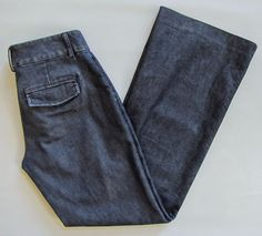 "Express Editor Pants 0 R Denim Wide Flare Leg Trouser Jean Dark Wash Stretch 31"" #Express #CasualPants"