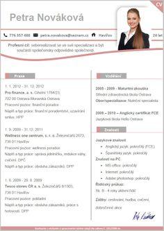 Pro-CV 3. vzor žena. Více informací zde http://www.pro-cv.cz/produkt/pro-cv-3-vzor-zena/