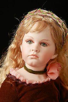 "Rare MUNDIA 23"" Porcelain Blonde Hair Nicole Doll Christine & Cecile France"