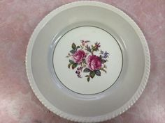 """JB21 in pale grey? cant really tell the color here. 10-3/4"""" Dinner or Charger Plate, $13.99 at fancypantskid on ebay, 5/09/15 China Rose, Johnson Bros, Charger Plates, Old English, Dinner Plates, Dinnerware, Decorative Plates, Pure Products, Tableware"""