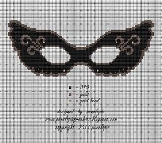 0 point de croix masque noir - cross stitch black mask