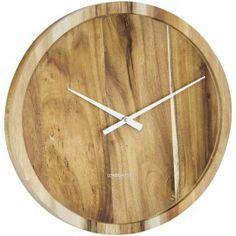 Pure Wall Clock Wood 35cm