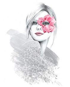 I love this artist by @glam_soyoung . #fashion #fashionillustration #flower