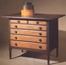 Shaker circa 1846 sewing cabinet.
