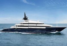 Famed director Steven Spielberg's $200 million megayacht, the Seven Seas a 282-footer, with a crew of 26.