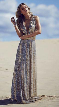 Champagne Sequins Multiway Bridesmaid Dress | www.goddessbynature.com  #wedding #bridesmaids #multiway #dresses