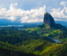 Photograph of the week: El Peñol in Colombia  http://www.aluxurytravelblog.com/2013/08/28/photograph-of-the-week-el-penol-in-colombia/