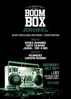 July 20, 2013 Music Party, Boombox, House Music, I Party, Reggae, Hip Hop, Parties, Entertaining, June 22