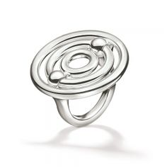 FOLLI FOLLIE Γυναικείο επάργυρο μεγάλο δαχτυλίδι με κύκλους FOLLI FOLLIE BONDS ασημί - Vres-To.gr