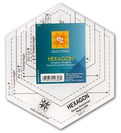 EZ Quilting Hexagon Acrylic Template -- CreateForLess