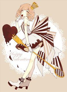 幸せなバレンタイン Manga Girl, Manga Anime, Gato Anime, Anime Chibi, Kawaii Anime, Anime Girl Cute, Anime Art Girl, Beautiful Anime Girl, Anime Girls