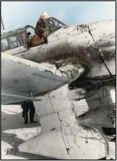 """""""Splendid example of camo applied in-field"""" KB Junkers Ju87 'Stuka' in winter camo"""