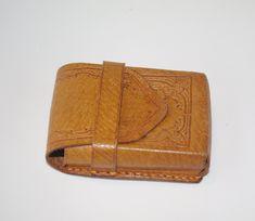 Leather Cigarette Case, Vintage Cigarette Case, Cigarette Box, Leather Case, Custom Leather Belts, Folk Fashion, Fashion Accessories, Polish, Wallet