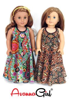 AG Doll Clothes Trendy Handmade Maxi Dress for 18 Inch Dolls like American Girl