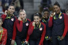 History: Simone Biles and the 'Final Five' Team USA gymnasts made history Tuesday as they ...