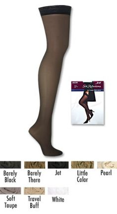 408d0061ea3 Hanes Silk Reflections Silky Sheer Thigh High 3-Pack 3-Pack