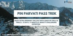 Trek to the most electrifying and challenging Pin Parvati Trek for 12 Days/11 Nights. Departure Dates : 24th June, 22nd July, 5th Aug, 25th Aug, 16th Sept, 29th Oct 2017 #pin #parvati #pass #trek #parvativalley #spitivalley #himachal Call at: +91 8693822762 / +91 8879421532 Email at: info@himalayadestination.com Visit : http://himalayadestination.com/pin-parvati-pass-trek/