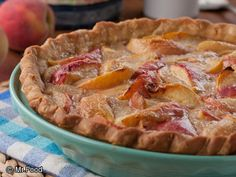Peachy Keen Cream Pie | mrfood.com
