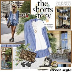 """The shorts story"" by helleka ❤ liked on Polyvore"
