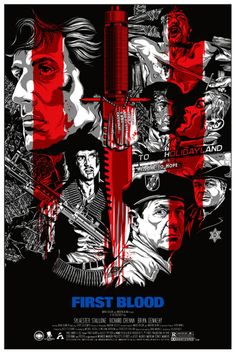 Anthony Petrie Rambo First Blood Sylvester Stallone Three Barrels Poster Mondo Best Movie Posters, Movie Poster Art, Cool Posters, Fan Poster, Art Posters, Film Poster Design, Graphic Design Posters, Graphic Design Inspiration, Poster Designs
