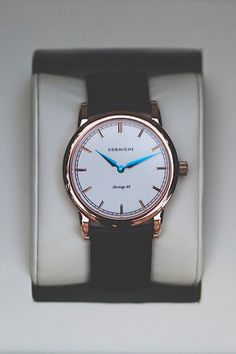 Rose Gold Heritage 40 by Corniche Watches  