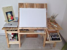 Design studio office art supplies 40 Ideas for 2019 Home Art Studios, Art Studio At Home, Garage Art Studio, Design Studio Office, Art Studio Design, Table Easel, Drawing Desk, Studio Table, Art Studio Organization