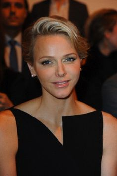Princess Charlene of Monaco attends Akris show, as part of the Paris Fashion Week Womenswear Spring/Summer 2014, in Paris.