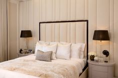 cream and black bedroom monochrome bedroom design How to create a glamorous and sophisticated interior : elegant luxurious stunning and sophisticated chic interiors: bedroom design Black And Cream Bedroom, Cream Bedrooms, Monochrome Bedroom, Sophisticated Bedroom, Sofa And Chair Company, Best Sofa, Upholstered Furniture, Sofa Chair, Home Accessories