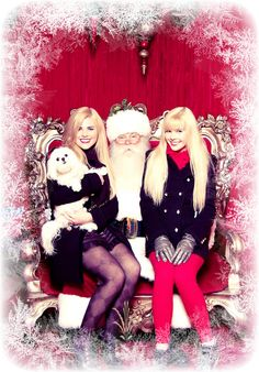Get dressed up and get a picture taken with your best friend and Santa.
