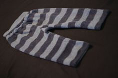 Upcycled wool longies blue stripe lambswool by AllKatydUp on Etsy