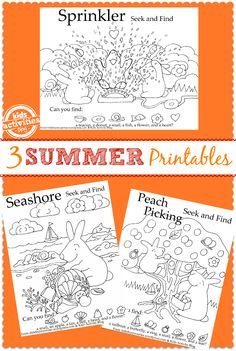 These adorable seek and find coloring pages are perfect for preschoolers.  They can find the hidden images and then color them in afterward.  Perfect on a hot day when you need to come inside to escape the heat or even when your traveling on a plane or in the car!