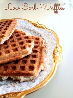 Low Carb Waffles Shared on https://www.facebook.com/LowCarbZen | #LowCarb #Breakfast