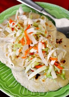 Recipe: Salvadoran Pupusas con Curtido (Masa Cakes with Cabbage Slaw) Recipes from The Kitchn
