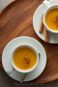 A creamy sweet potato drink laced with warming spices.