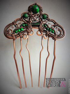 Делаем гребень для волос в технике wire wrap - Ярмарка Мастеров - ручная работа, handmade