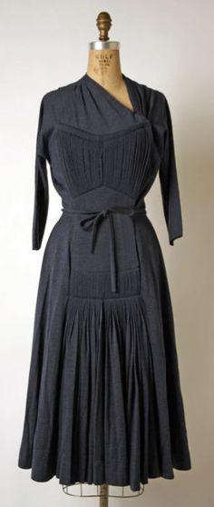 Madame Gress dress ca. 1945 via The Costume Institute of The Metropolitan Museum of Art
