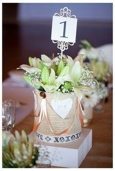 West Coast Beach Party Wedding {Sea Trader} | Confetti Daydreams - DIY Centrepiece displayed upon a white wooden block  ♥ #Wedding #Beach ♥  ♥  ♥ LIKE US ON FB: www.facebook.com/confettidaydreams  ♥  ♥  ♥