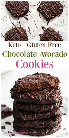These easy avocado chocolate cookies are a chocolate lover's dream! Soft, fudgy and with a deep chocolate flavour, you can enjoy this treat completely guilt free. How? Because these are Keto avocado cookies - sugar free, gluten free, packed with nutrients and keto friendly at only 3.5g net carbs per large cookie. And just in case you're wondering - no, you cannot taste the avocado!