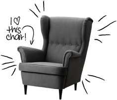 Ikea Strandmon Chair $279 - I'm in the process of selling my last obnoxious sized sectional sofa so I can buy this chair and ottoman for $79.  I want this chair.  It's totally comfy, which I was not expecting for a chair from IKEA and I Want it!