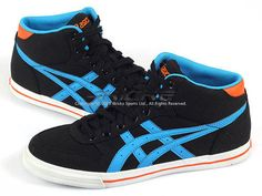 check out 467cf 2fdcd Asics Aaron MT CV Black Malibu Blue Orange Classic Canvas Sportstyle H22YJ  9041   eBay Asics